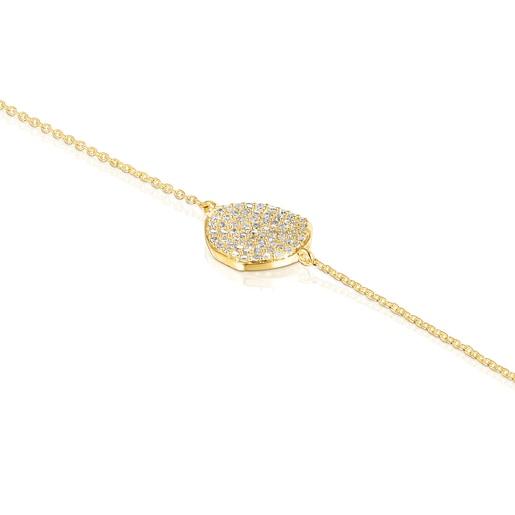 Pulsera de oro y diamantes Nenufar