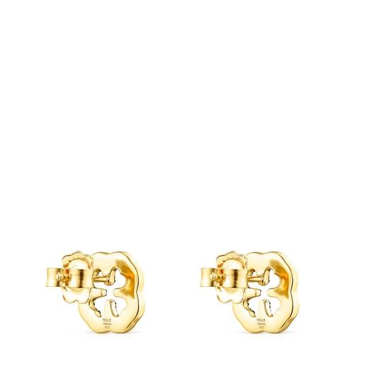 Σκουλαρίκια τριφύλλι TOUS Good Vibes από Ασήμι Vermeil με Πολύτιμους Λίθους