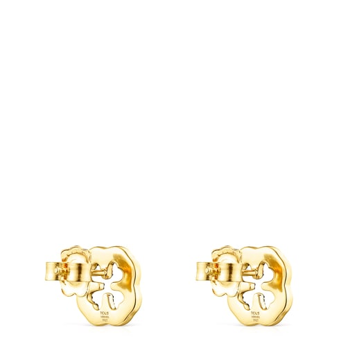 Silver Vermeil TOUS Good Vibes clover Earrings with Gemstones