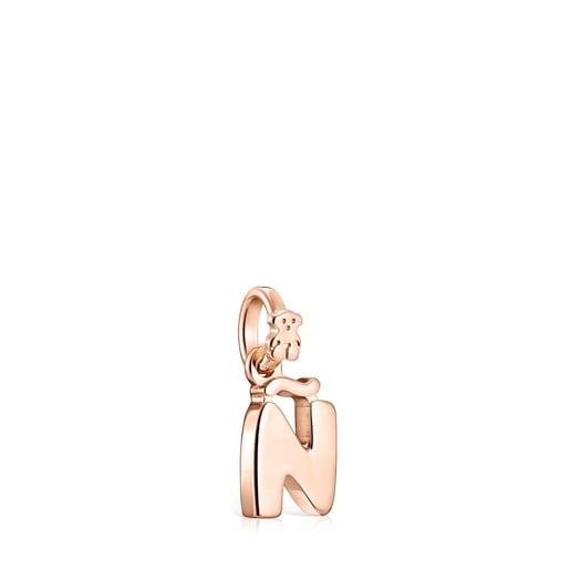 Μενταγιόν Alphabet από Ροζ Χρυσό Vermeil με το γράμμα Ñ