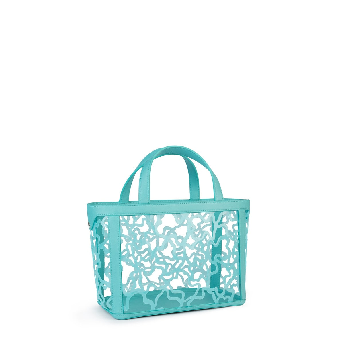Small mint Vinyl Kaos Shock Tote bag