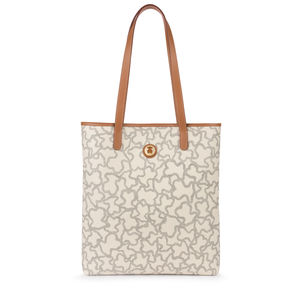 6d1574e36c35b Sand-black colored Canvas Kaos New Total Shopping bag