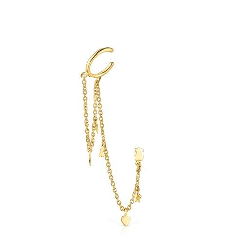 Ohrstecker Cool Joy aus Vermeil-Silber und Perlen