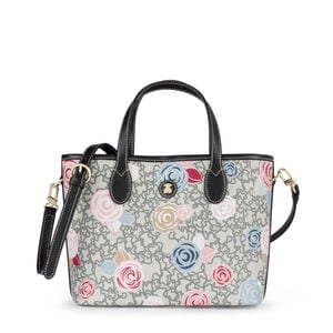 Tote bag pequena Kaos Mini Roses multi-preto