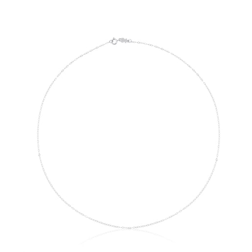 40 cm White Gold TOUS Chain Choker with oval rings.
