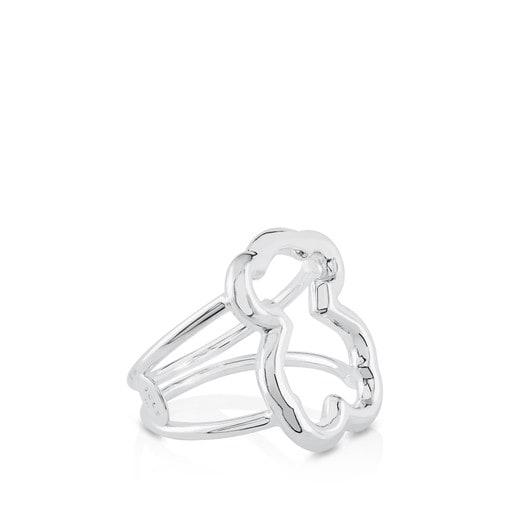 Silver New Carrusel Ring Bear motifs 2cm.