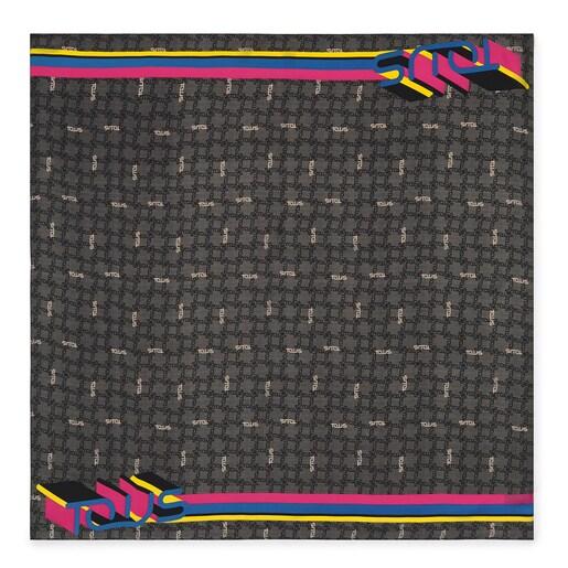 Pañuelo Logogram en color negro