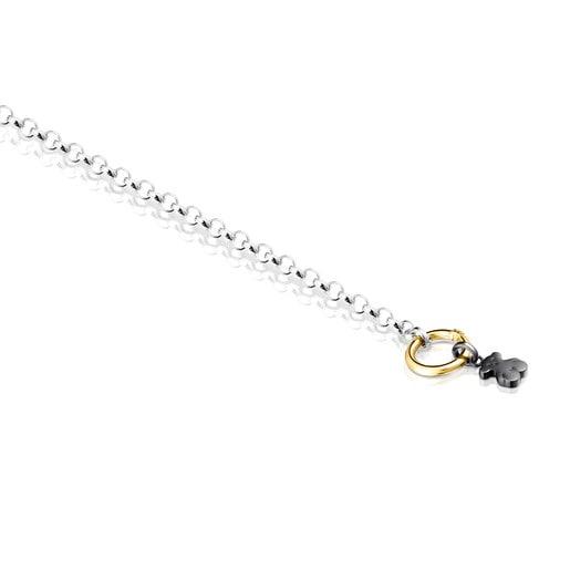 Armband Hold aus Silber, Vermeil-Gold und Dark Silver