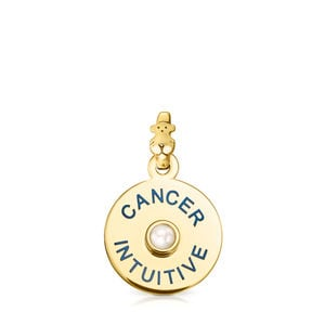 Vermeil Silver TOUS Horoscopes Cancer Pendant with Pearl