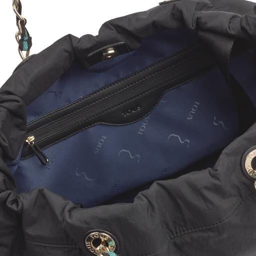 Large Black T Lux Shoulder Bag
