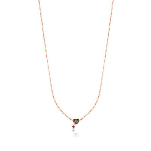 Colar Motif em Prata Vermeil rosa