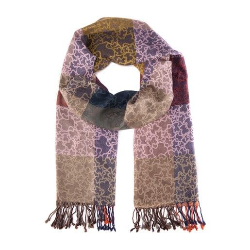 Kaos Scarf in pink and camel