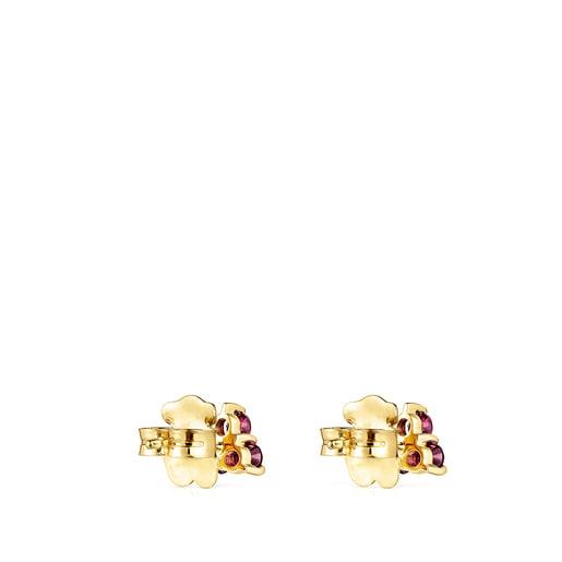 Gold Luz Earrings with Rhodolite