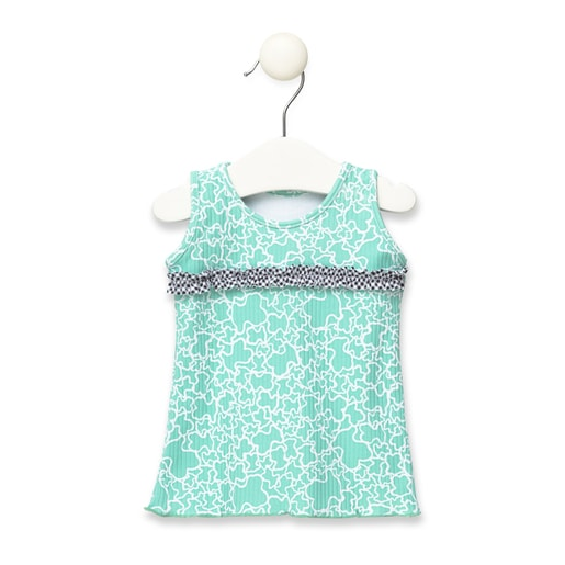 Vestido de playa Kaos Ink Verde