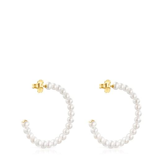 Pendientes aro Gloss de perlas