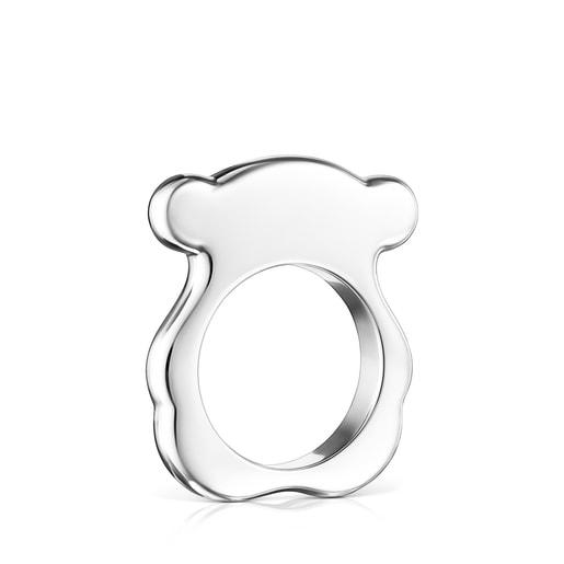 Silver TOUS New Sweet Dolls Ring Bear motif
