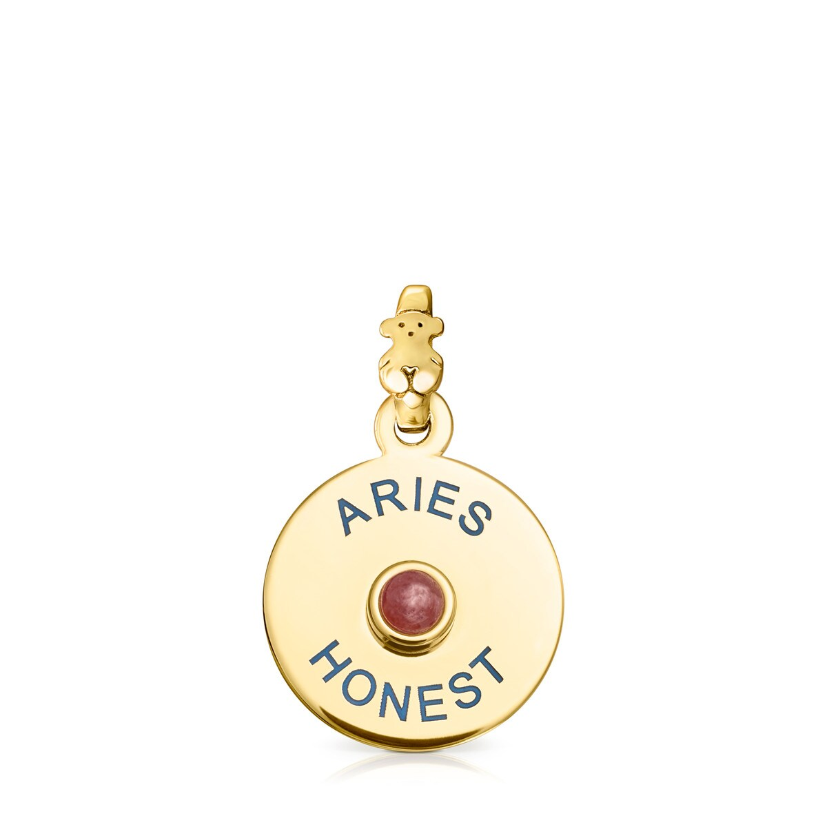 Vermeil Silver TOUS Horoscopes Aries Pendant with Ruby