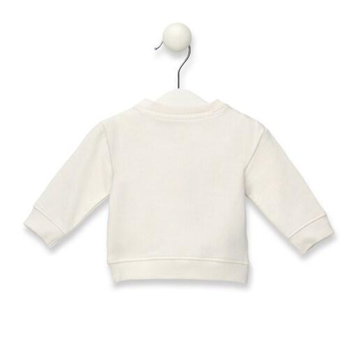Casual girl's sweatshirt in Ecru