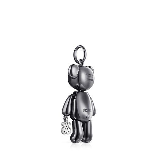 Pingente grande Teddy Bear em Titânio e Diamantes - Edição limitada