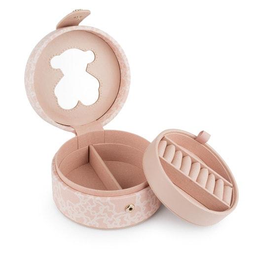 Joyero Kaos Mini de Lona en color rosa