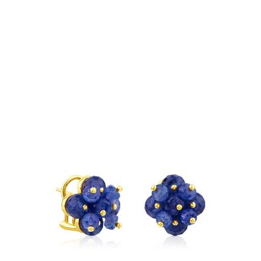 Pendientes ATELIER Precious Gemstones de oro con tanzanitas