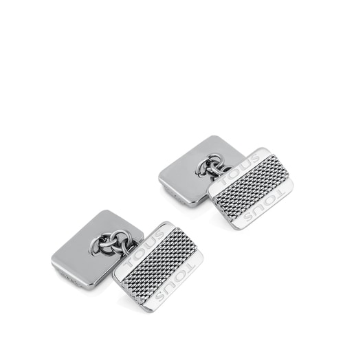 Steel TOUS Man Cufflinks