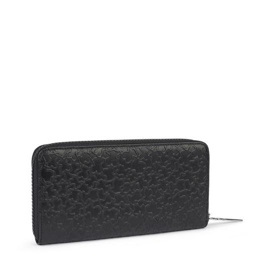 Medium black leather Sira wallet