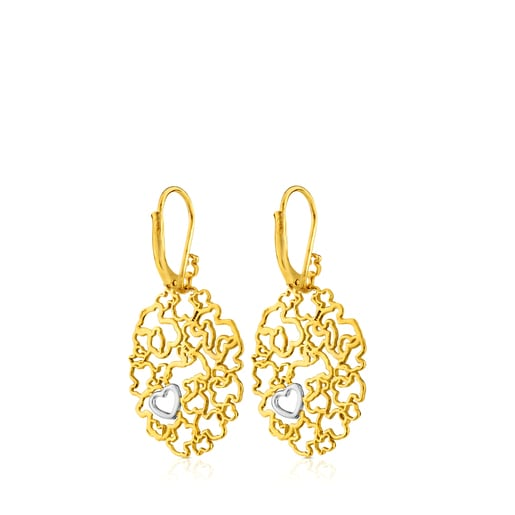 Yellow and White Gold Milosos Earrings with Diamond
