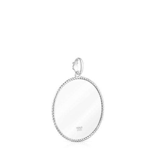 TOUS Large Silver Minne Pendant