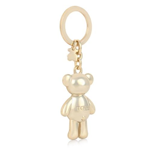 Gold colored Teddy Bear bear Key ring