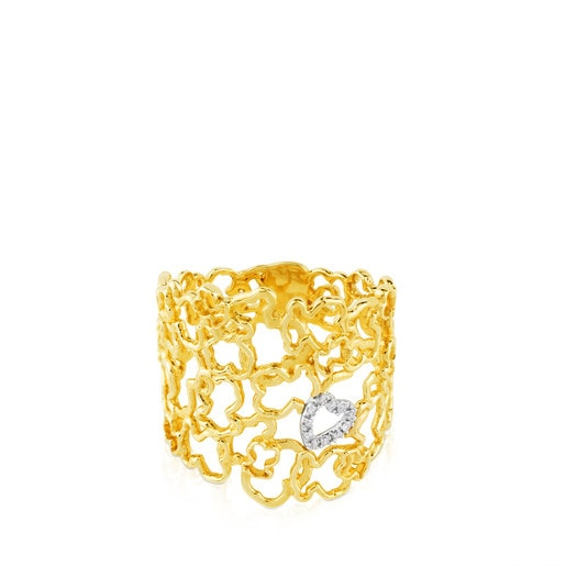 Yellow and White Gold Milosos Ring with Diamond