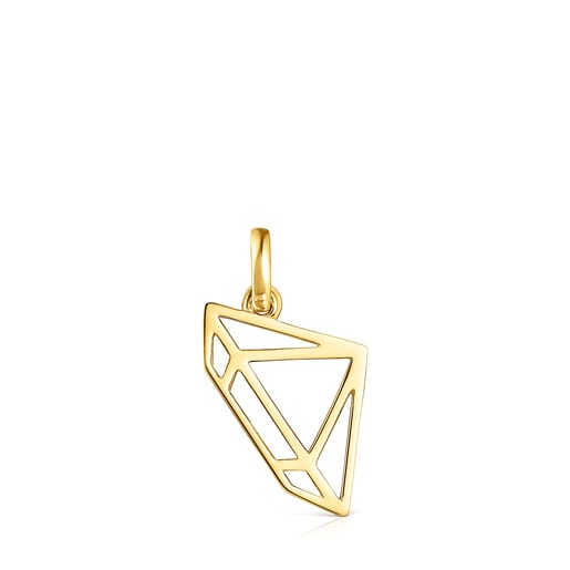 Silver Vermeil Job diamond Pendant
