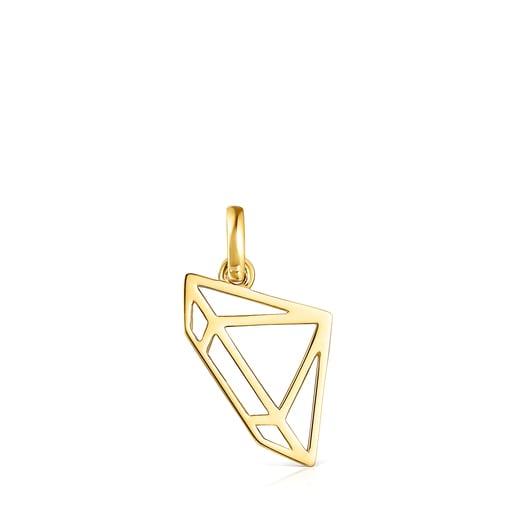 Pingente Job diamante em Prata Vermeil