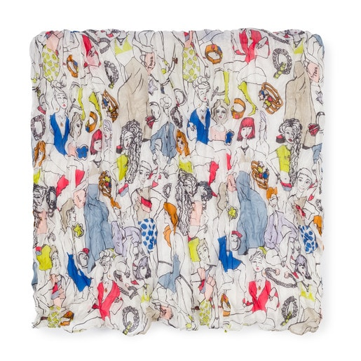 Multicolored Tous Tribe Plis foulard