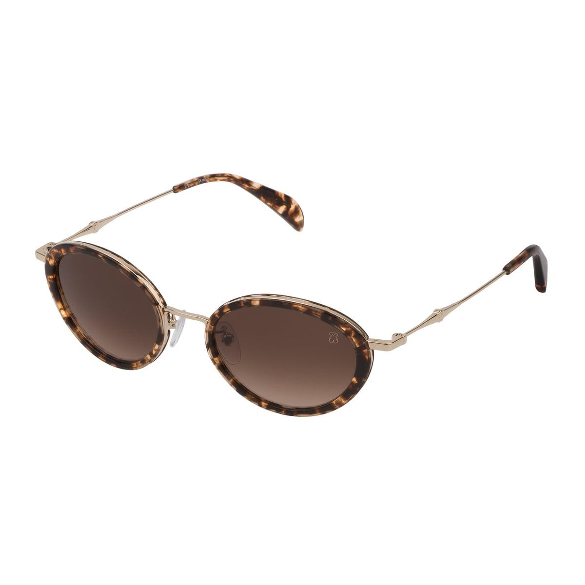 Gafas de sol Metal Bear de metal y acetato en color marrón