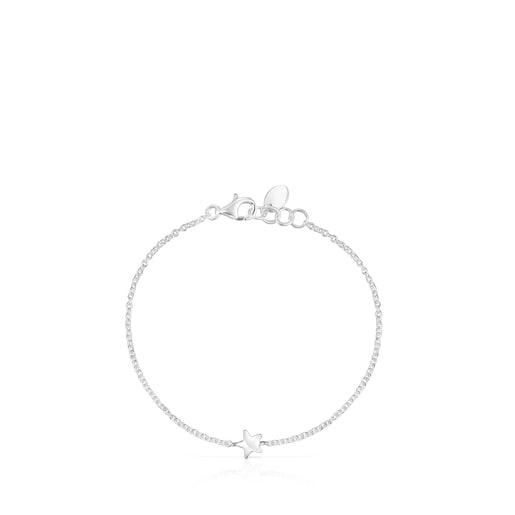 Silver Mini Icons bear-star Bracelets set