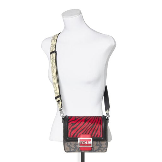 Small Kaos Icon Wild Multi Red - Black Shoulder Bag