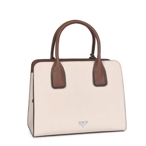 Medium beige and brown TOUS Essential City bag