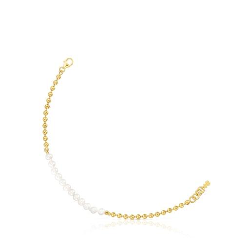 Pulsera Gloss de plata vermeil y perlas
