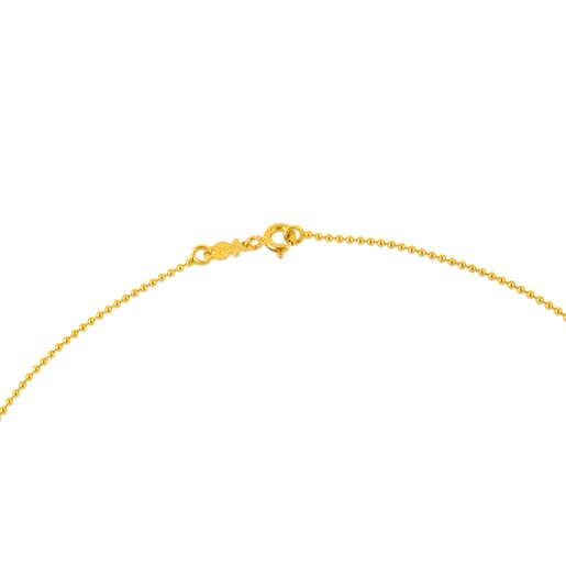 45cm Gold TOUS Chain Choker with 1.2mm balls.