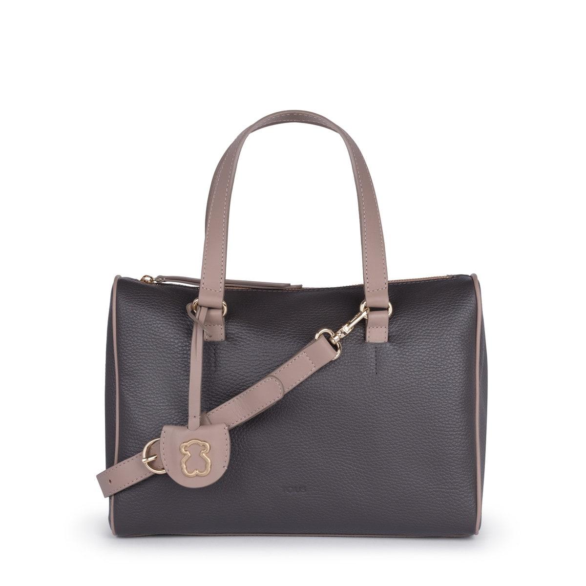 7d2115651c Τσάντα τύπου μπόουλινγκ Arisa από Δέρμα σε χρώμα γκρι-μπεζ - Tous ...