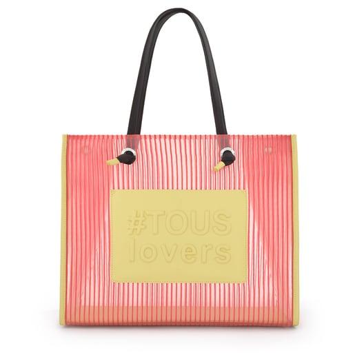 Large Coral Amaya Shopping Bag