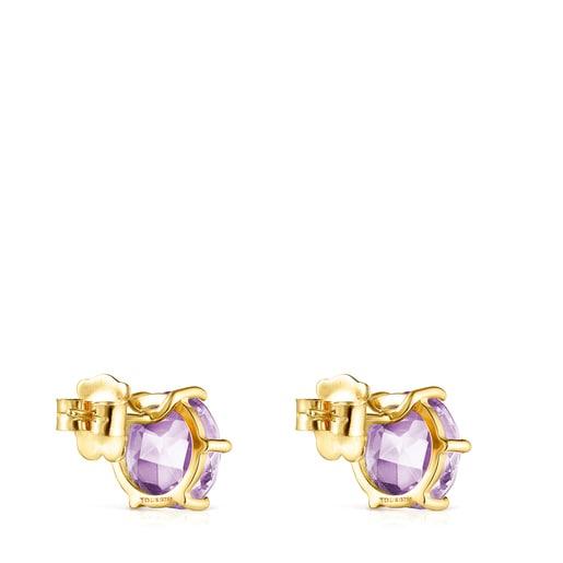 Ohrringe Ivette aus Gold mit Amethyst