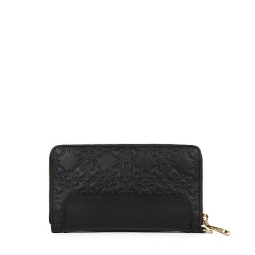 Medium black colored Leather Mossaic Wallet