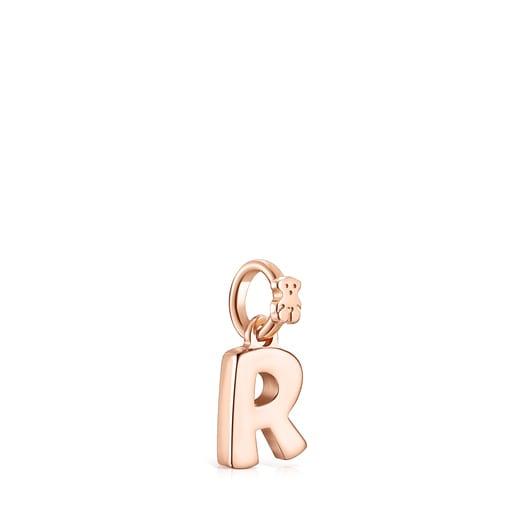 Pendentif Alphabet lettreR en Or Vermeil rose