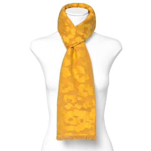 Yellow jacquard Granate Leo Foulard