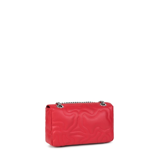 Small red Kaos Dream Crossbody bag with flap