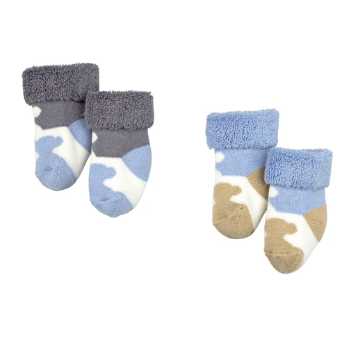 Conjunto de peúgas Sweet Socks 1301 Azul celeste