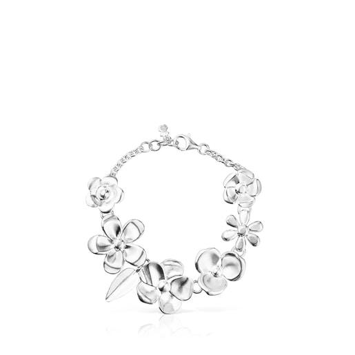Bracelet Fragile Nature fleurs en Argent