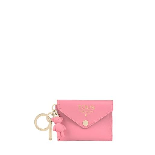 Porte-clés avec mini-trousse TOUS Envelope rose
